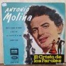Discos de vinilo: ANTONIO MOLINA - EL CRISTO DE LOS FAROLES - EP. DEL SELLO ODEÓN 1964. Lote 160562974
