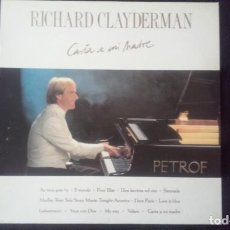 Discos de vinilo: LP RICHARD CLAYDERMAN, CARTA A MI MADRE, 1991. Lote 160583790