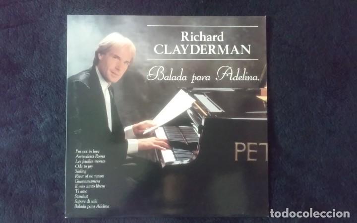 LP RICHARD CLAYDERMAN, BALADA A ADELINA, 1991 (Música - Discos - LP Vinilo - Clásica, Ópera, Zarzuela y Marchas)