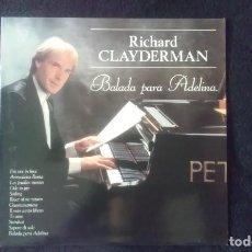 Discos de vinilo: LP RICHARD CLAYDERMAN, BALADA A ADELINA, 1991. Lote 160584182