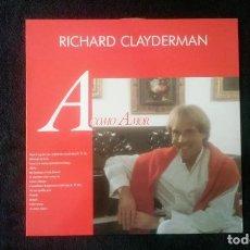 Discos de vinilo: LP RICHARD CLAYDERMAN, A COMO AMOR, 1991. Lote 160584690