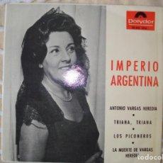 Discos de vinilo: IMPERIO ARGENTINA, EP 1965. Lote 160593930