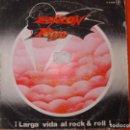 Discos de vinilo: SOLO LA FUNDA DEL SINGLE , BARON ROJO , LARGA VIDA AL ROCK & ROLL. Lote 160594338