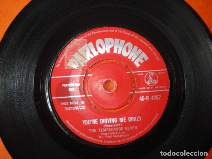 Discos de vinilo: The Temperance Seven ‎– You're Driving Me Crazy - Charley My , Parlophone 1961 - Foto 2 - 160594610