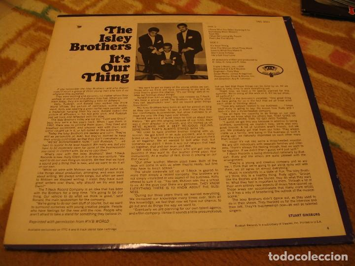 Discos de vinilo: THE ISLEY BROTHERS LP IT´S YOUR OUR THING T-NECK ORIGINAL USA 1968 - Foto 2 - 160602994