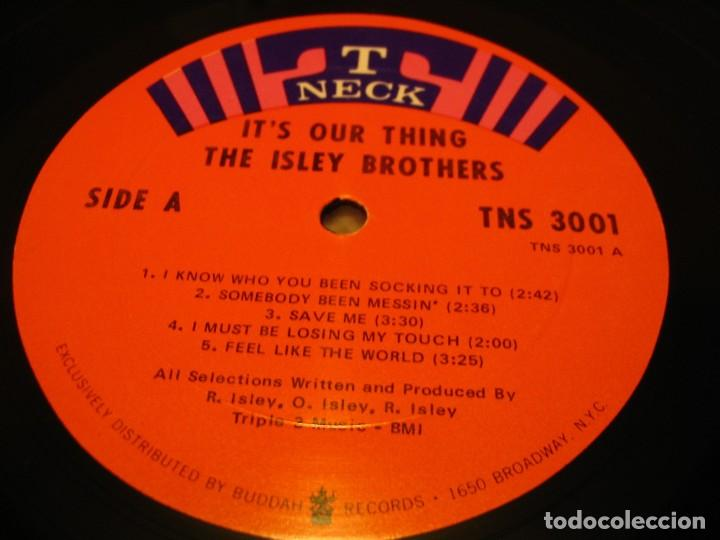 Discos de vinilo: THE ISLEY BROTHERS LP IT´S YOUR OUR THING T-NECK ORIGINAL USA 1968 - Foto 3 - 160602994