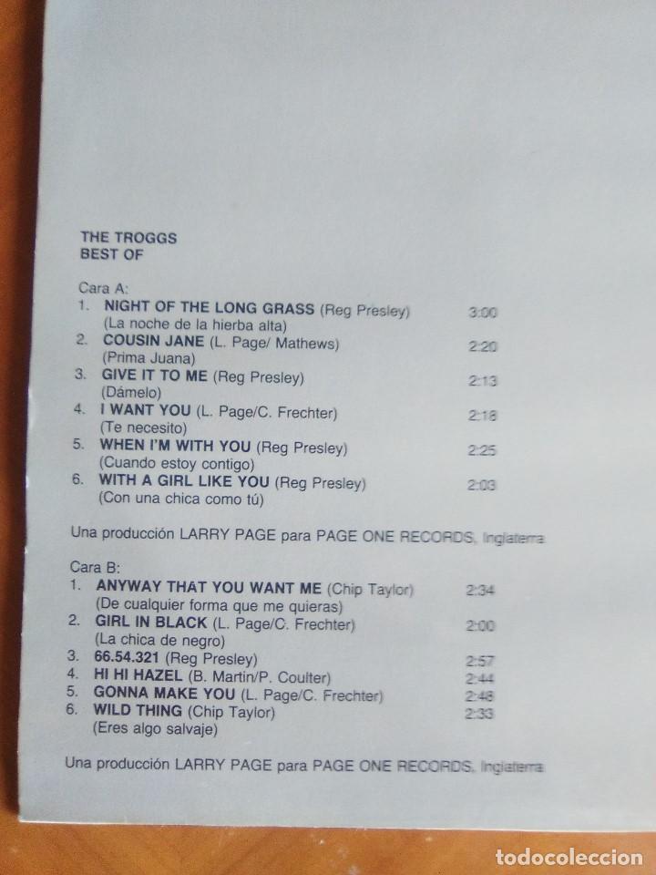 Discos de vinilo: THE TROGGS - BEST OF - LP - FONTANA 1989 SPAIN 424595.1.NUEVO. - Foto 6 - 160617362