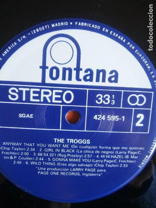 Discos de vinilo: THE TROGGS - BEST OF - LP - FONTANA 1989 SPAIN 424595.1.NUEVO. - Foto 8 - 160617362