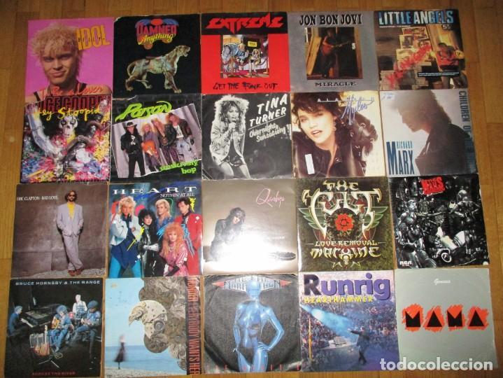 LOTE DE MAS DE 100 SINGLES VINILO POP ROCK HEAVY (Music - Records - Vinyl Singles - Pop-Rock International of the 80s)