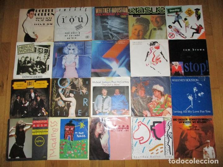 Vinyl records: LOTE DE MAS DE 100 SINGLES VINILO POP ROCK HEAVY - Foto 3 - 160622890