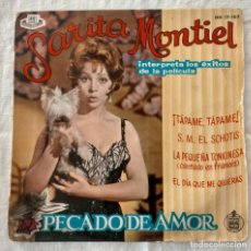 Discos de vinilo: DISCO SINGLE SARITA MONTIEL* ?– INTERPRETA LOS ÉXITOS DE LA PELÍCULA PECADO DE AMOR (ÚNICO T.C.) . Lote 160630658