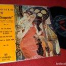 Discos de vinilo: ANTONIO EL CHAQUETA&PACO AGUILERA TUS OJOS NEGROS/POR MI PUERTA Y NO ME HABLES +2 EP 1960 COLUMBIA. Lote 160657950