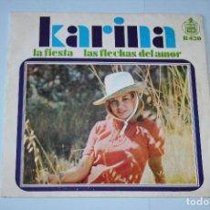 Discos de vinilo: KARINA *** SINGLE VINILO AÑO 1968 *** HISPAVOX ***. Lote 160663830