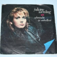 Discos de vinilo: JULIANE WARDING *** SINGLE VINILO AÑO 1986 *** MAMBO WEA ***. Lote 160665590