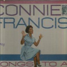 Discos de vinilo: CONNIE FRANCIS SONGS SWINGING BAND. Lote 160668578