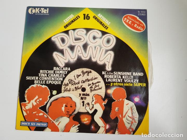 DISCO MANIA - 16 ARTISTAS Y EXITOS ORIGINALES (VINILO) (Música - Discos - LP Vinilo - Disco y Dance)