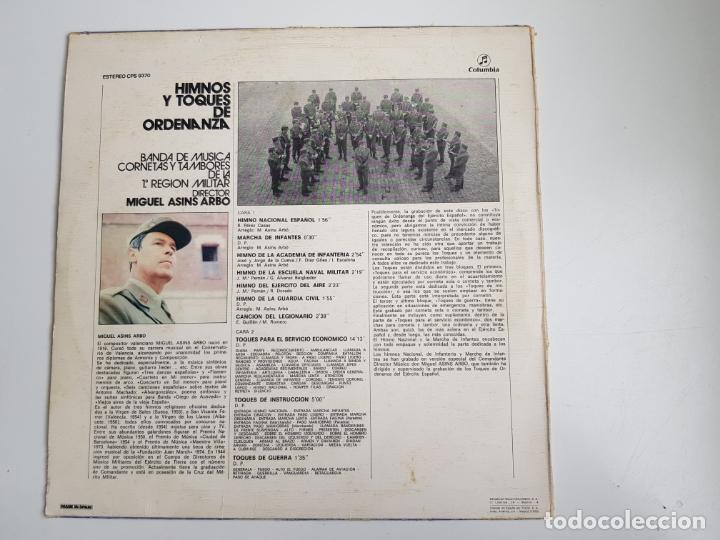 Discos de vinilo: Miguel Asins Arbó - Himnos Y Toques De Ordenanza (VINILO) - Foto 2 - 160670918