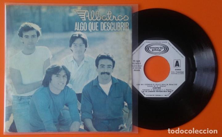 ALBATROS ALGO QUE DESCUBRIR/ALGO NUEVO MOVIEPLAY GONG 1980 PROMOCIONAL (Música - Discos - Singles Vinilo - Grupos Españoles de los 70 y 80)