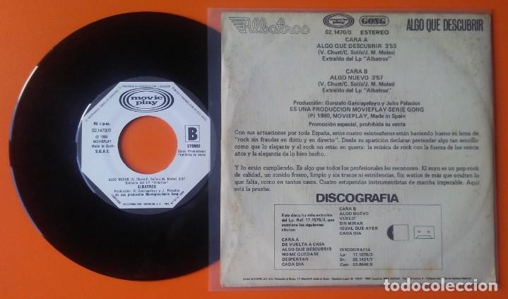 Discos de vinilo: ALBATROS ALGO QUE DESCUBRIR/ALGO NUEVO MOVIEPLAY GONG 1980 PROMOCIONAL - Foto 2 - 160677546