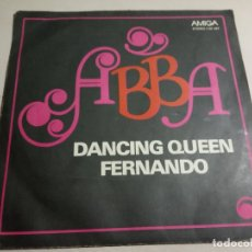 Discos de vinilo: ABBA.DANCING QUEEN / FERNANDO.AMIGA.GERMAN DEMOCRATIC REPUBLIC (GDR).1976.. Lote 160646874