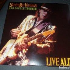 Discos de vinilo: STEVIE RAY VAUGHAN AND DOUBLE TROUBLE --- LIVE ALIVE // GATEFOLD// DOBLE 2LP// COMO NUEVO. Lote 160713702