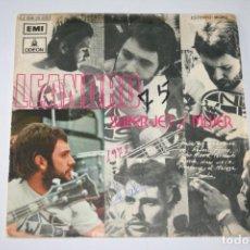 Discos de vinilo: LEANDRO *** SINGLE VINILO AÑO 1972 *** EMI ODEÓN. Lote 160715758