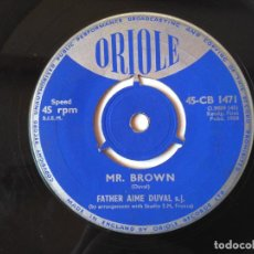 Discos de vinilo: MR BROWN SINGLE. Lote 160715898