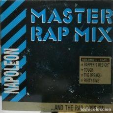 Discos de vinilo: NAPOLEON, MASTERS RAP MIX / FEEL THE BODY HEAT, 12' MAX MUSIC SPAIN 1988, HIP HOP. Lote 160726678