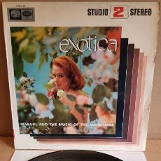 Discos de vinilo: MANUEL AND THE MUSIC OF THE MOUNTAINS / EXOTICA / LP - VOZ DE SU AMO-1966 / MBC. ***/***. Lote 160727494