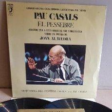 Discos de vinilo: PAU CASALS / EL PESSEBRE / DOBLE LP-GATEFOLD + AMPLIO LIBRETO ILUSTRADO / CALIDAD LUJO. ****/****. Lote 160729222