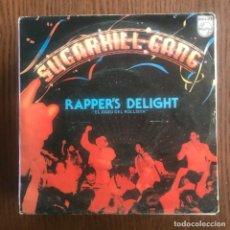 Dischi in vinile: SUGARHILL GANG - RAPPER'S DELIGHT - SINGLE PHILIPS 1980 . Lote 160735734