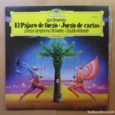 Discos de vinilo: LP - IGOR STRAVINSKY - EL PAJARO DE FUEGO...- LONDON SYMPHONY ORCHESTRA - DEUTSCHE GRAMMOPHON - 1975. Lote 160738458