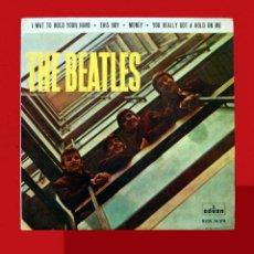 Discos de vinilo: THE BEATLES, I WAT TO HOLD YOUR HAND, ( CON ERROR ) CIA ODEON, DSOE 16 576, PRIMERA EDICIÓN, 1964,. Lote 117072367