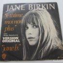 Discos de vinilo: JANE BIRKIN (SINGLE ED. ESPAÑOLA DE 1977) JE T'AIME MOI NON PLUS - JANE B. VCSD09. Lote 160779338