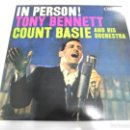 Discos de vinilo: LP. IN PERSON!. TONY BENNETT, COUNT BASIE AND HIS ORCHESTRA. 1983. CBS. Lote 160782434