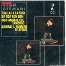Discos de vinilo: REMO GERMANI/ TRA LA LA LA SUSI + 3 (EP 1965). Lote 160782870