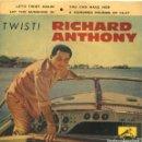 Discos de vinilo: RICHARD ANTHONY / LET'S TWIST AGAIN + 3 (EP 1961). Lote 160784154