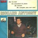 Discos de vinilo: RICHARD ANTHONY / SUR LE TOIT + 3 (EP 1963). Lote 160784310
