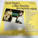 Discos de vinilo: LP. SARAH VAUGHAN & BILLY ECKSTINE. THE IRVING BERLIN SONGBOOK. 1984. POLYGRAM RECORDS. Lote 160803954