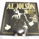 Discos de vinilo: LP. THE VERY BEST OF AL JOLSON. 20 GREATEST HITS. 1983. MP RECORDS. Lote 160805394