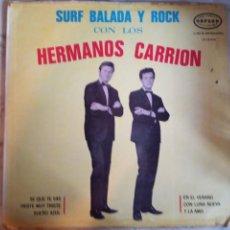 Discos de vinilo: HERMANOS CARRIÓN SURF, BALADA Y ROCK LATIN R'N'R SURF LP MEXICO ORIGINAL 1965 RARO VG/VG+. Lote 160848122