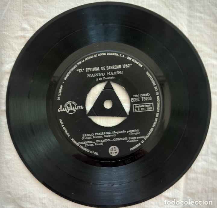 Discos de vinilo: DISCO SINGLE Marino Marini Y Su Cuarteto – Addio... Addio / Vestita Di Rosso 1962 - Foto 5 - 160848682