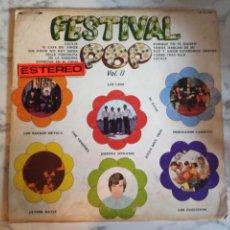 Discos de vinilo: FESTIVAL POP II VVAA (FITOS SOUL TRIO JAVIER BATIZ ROCKIN DEVILS) R'N'R POP SOUL MEXICO 1970 VG/VG+. Lote 160851194