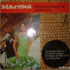 Discos de vinilo: MARISOL INTERPRETA CANCIONES DE GARCIA LORCA EP AÑO 1964. Lote 160851390