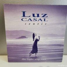 Discos de vinilo: LUZ CASAL VINILO 12 PULGADAS SINGLE SENTIR EDITADO EN FRANCIA. Lote 160856182