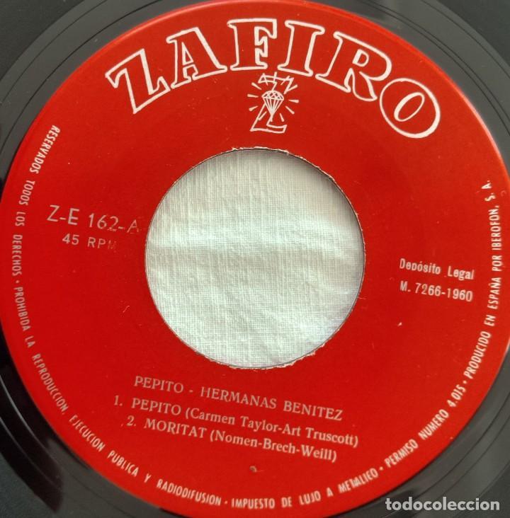 Discos de vinilo: disco single-Hermanas Benitez ?– Pepito 1960 - Foto 4 - 160857022