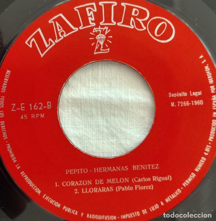 Discos de vinilo: disco single-Hermanas Benitez ?– Pepito 1960 - Foto 6 - 160857022