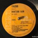 """Discos de vinilo: VINILO VINYL 12"""" 45 RPM YAZOO DON'T GO (RE-MIXES) RCA VICTOR SPCO-7352 SPAIN 1982. Lote 160877002"""