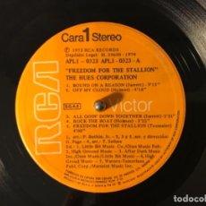 Discos de vinilo: VINYL LP THE HUES CORPORATION FREEDOM FOR THE STALLION RCA VICTOR APL1-0323 VINILO. Lote 160881770