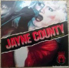 Discos de vinilo: JAYNE COUNTY. BETTY GRABLE'S LEGS! JUNGLE RECORDS (FREUD 27) UK 1989 LP. Lote 160925314